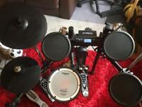 Roland TD4k Electronic drum kit with extra (pearl double pedal and CY13 ride cymbal)