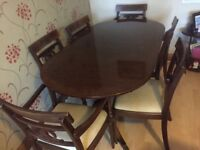 Table and six chairs very good condition only £40