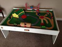Brio wooden Thomas train table Lego / drawing / activity table