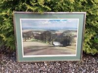 AN ATTRACTIVE LANDSCAPE PRINT BY ROWLAND HILDER - A WINTER'S COUNTRY SCENE