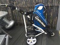 Powercaddy Electric Trolley & TaylorMade Bag