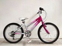 "(3058) 20"" RALEIGH KRUSH GIRLS MOUNTAIN HYBRID BIKE BICYCLE Age: 6-9, Height: 120-135 cm"