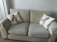 2 seater sofa x brown leather chair x