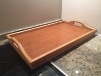 Breakfast Trays x 2 - Foldable, Bamboo (in Good Condition)