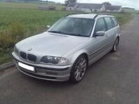2001 BMW 330d E46 3.0d M57D30 Estate Touring Automatic BREAKING FOR PARTS SPARES Titan Silver