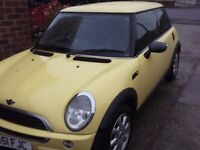 mini one,3 door hatchback.1600cc petrol.mot may2017.good condition inside & outside.