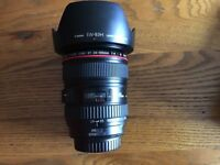 Canon 24-105 l series lens in very good condition with 2 Hoya Pro Filters