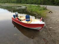 1985 prince craft 12 ft aluminum   REDUCED $1750!!!!