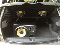 Vibe Subwoofer & Speaker set, Kenwood car stereo included.