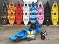 Sit on kayak 9 different colours in stock now from Cambridge kayaks.