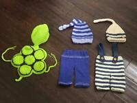 Knitted newborn baby photography outfits