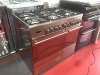 KENWOOD 90cm dual fuel gas range cooker