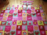 Peppa pig tab top fully lined curtains
