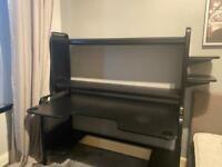 IKEA FREDDE Gaming desk, black185x74x146 cm