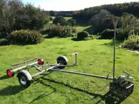 Refurbished Rapide Galvanised Combi Boat Road Trailer and Launching Trolley with Mast Support