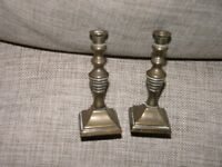 Small Pair Brass Candlesticks Weymouth Free Local Delivery
