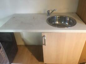 Mini Kitchenette with all hoses