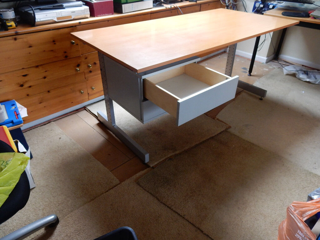 Ikea Office Desk With Drawers In Good Condition 160 X 80cm 70 74cm