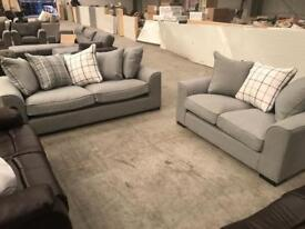 Brand new grey 3 + 2 seater sofa suite