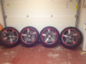 "Audi style Q5 20""wheels with Pirelli Scorpion winter tyres X 4."