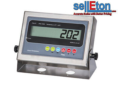 New Ps-in202ss-c Lcd Indicator With 2 Rs-232 Ports Floor Or Truck Scale Base