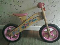 Girls Kidcool balance bike and helmet