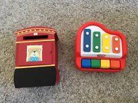 Little tykes piano & post box