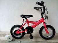 "(2594) 12"" 8.5"" PONY BMX Girls Kids Childs Bike Bicycle + STABILISERS Age: 3-4 Height: 90-105cm PINK"
