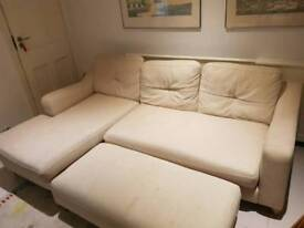 Extra large sofa with large footrest