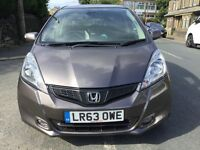 2013 63 HONDA JAZZ 1.4 I VTEC EXL AUTO 5DR,LEATHER SEATS,PANORAMIC ROOF, HONDA HISTORY,31000 MILES.