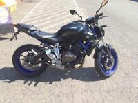 Yamaha MT 07 low mileage akrapovic exhaust