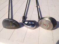 Golf clubs x 3