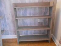 Solid Wood Shelf Unit in Grey