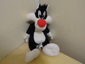 SYLVESTER THE CAT - SOFT TOY / TEDDY - OFFICIAL WARNER BROS ITEM