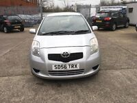 Toyota Yaris 1.3 silver mot until 30/9/17 two former owner owner full dealer service history