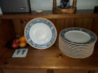 ROYAL PORCELAIN DINNER PLATES Dishwasher and Microwave Safe 11 in total and barely used.