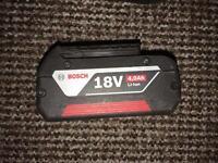 Bosch 18v lithium 4ah battery