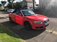 Audi A4 TDI S-Line convertible 2009 special edition LOW MILEAGE LEATHER SATNAV