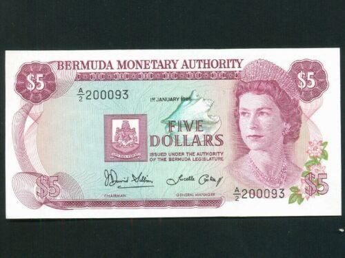 Bermuda:P-29c,5 Dollars,1986 * Queen Elizabeth II * UNC *