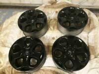 18 inch black ford st alloy wheels pcd 5x108