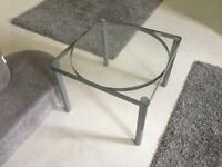 Grey and glass coffee side table