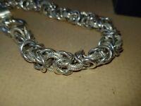 28grm=1oz Hallmarked silver multi link bracelet