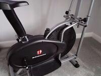 Hi performance cross trainer/bike