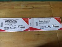 Robbie Williams seated tickets