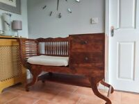 Solid Wood Chair Sofa Hallway Entry Way Seat Stool Bench Can Deliver