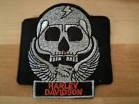 Harley Davidson skull bike jacket patch