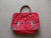 BRAND NEW Red Canvas Holdall Bag