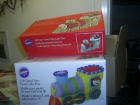 3-D Choo Choo Train CakeTins Brand New In Packaging 2Tins in one box , More than1 Available £10 each