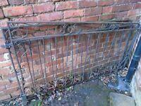 Pair of metal gates 100cm tallx 164 cm wide