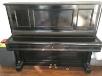 Bechstein Upright black Piano in good condition, recently refurbished internally. Sounds amazing